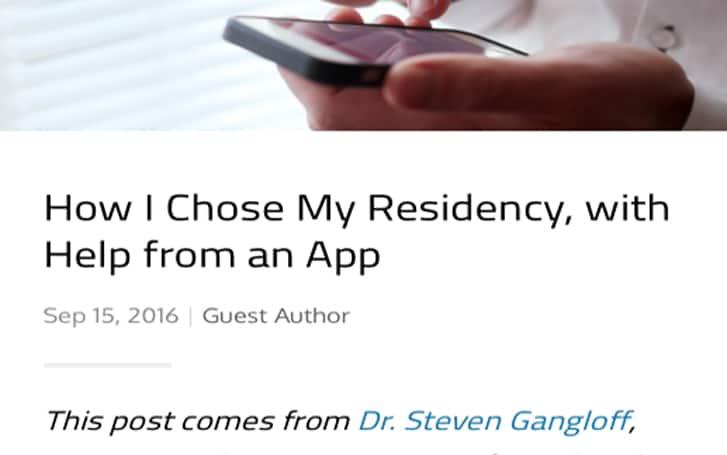 How I chose my Residency Article by Steven Gangloff MD Neurologist Duke North Carolina